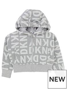 dkny-girls-logo-print-hooded-zip-through-jacket