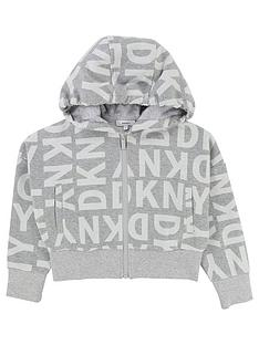 dkny-girls-logo-print-zip-through-cropped-hoody
