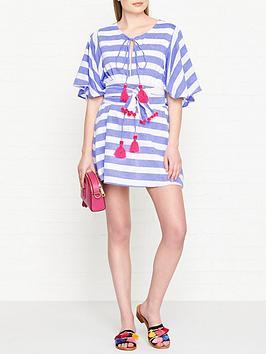sundress-gaia-stripe-tassel-dress-bluewhite