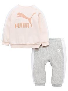 puma-baby-girls-classic-crew-jog-set