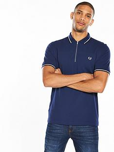 fred-perry-zip-neck-polo-shirt