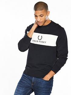 fred-perry-panel-embroidered-sweat