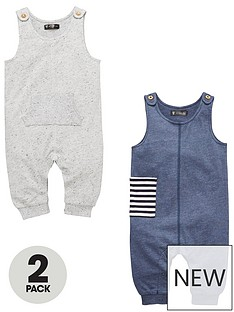 mini-v-by-very-baby-boys-2pk-textured-jersey-dungarees