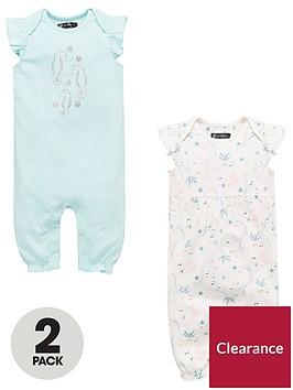 mini-v-by-very-baby-girls-2-pack-short-sleeved-rompers-multi