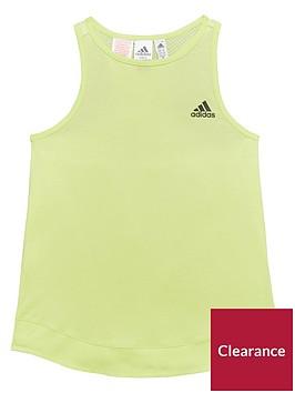 adidas-girls-zne-tank-nbsp--pastel-yellownbsp