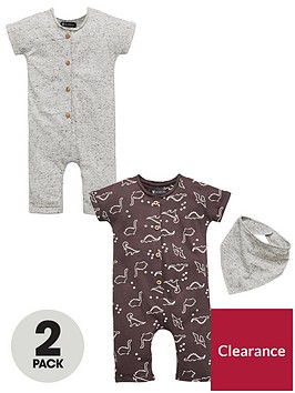 mini-v-by-very-baby-boys-2-pack-dinosaur-rompers-amp-bib
