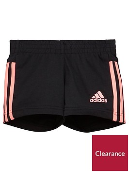 adidas-younger-girls-knit-short-black