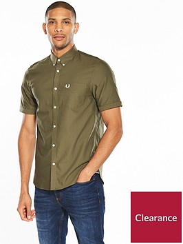 fred-perry-classic-short-sleeve-oxford-shirt