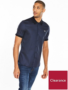 fred-perry-micro-pattern-short-sleeve-shirt