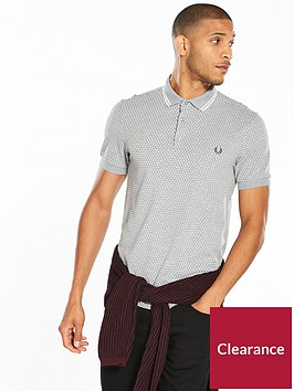 fred-perry-geometric-print-polo
