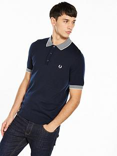 fred-perry-stripe-trim-knitted-shirt