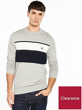 fred-perry-fred-perry-textured-panel-crew-neck-jumper