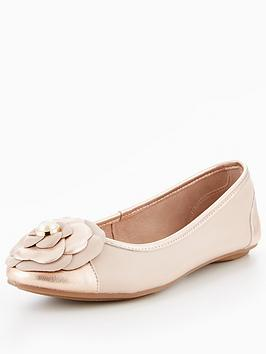 Dune London Hyacinth Pearl Detail Ballerina