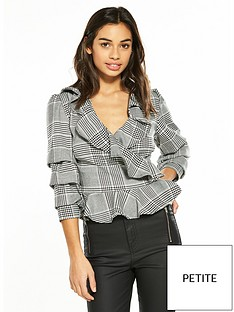 v-by-very-petite-check-wrap-blouse
