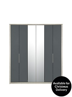 consort-jupiter-6-door-centre-mirrored-bi-fold-wardrobe