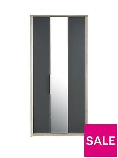 consort-jupiter-3-door-centre-mirrored-bi-fold-wardrobe