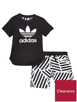 adidas-originals-younger-boys-graphic-short-set-blackwhitenbsp