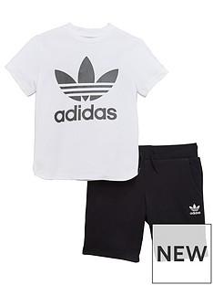 adidas-originals-younger-boys-trefoil-short-set
