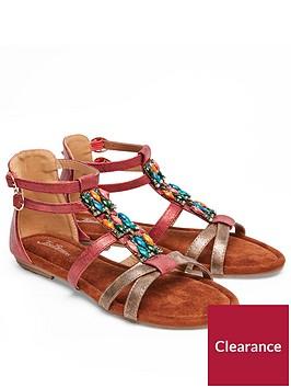 joe-browns-gladiator-sandals-red