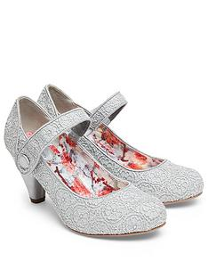 joe-browns-lace-mary-jane-shoes-with-cone-shape-heel-grey