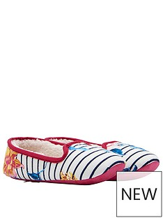 joules-joules-slip-on-clematis-stripe-floral-slipper