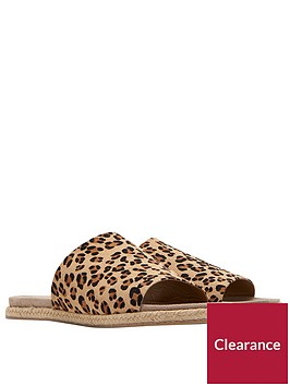 joules-leather-molded-slide-sandal-leopardnbspprint