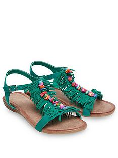 joe-browns-joe-browns-womens-low-wedge-t-bar-sandals-with-tassel-design