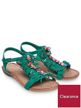 joe-browns-joe-browns-womens-low-wedge-t-bar-sandals-with-tassel-design
