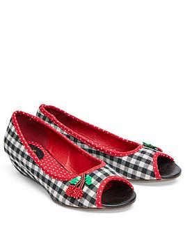 joe-browns-check-peep-toe-low-wedge-shoes-with-cherry-embellishment