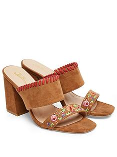 joe-browns-charismatic-embroidered-mule-heeled-sandal-tan