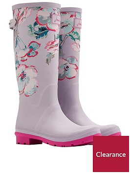 joules-printed-tall-adjustable-wellynbsp--cool-grey-poppy