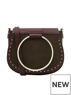accessorize-accessorize-metal-ring-bergundy-saddle-bag