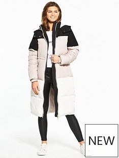 miss-selfridge-miss-selfridge-colourblock-maxi-puffer-coat