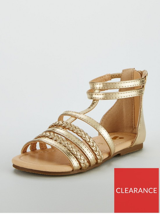 1ec1c24e953 V by Very Girls Valentina Tassel Gladiator Sandal - Gold