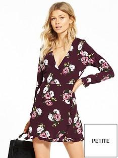 miss-selfridge-miss-selfridge-petite-floral-print-tea-dress