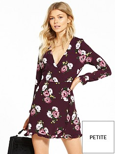 miss-selfridge-petite-floral-print-tea-dress