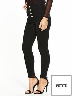 miss-selfridge-petite-corset-high-waistnbspjeans
