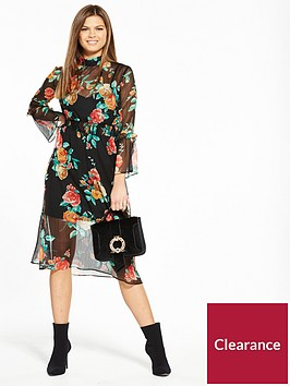 miss-selfridge-floral-high-neck-rose-midi-dress