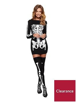 ann-summers-halloween-miss-bones-dress
