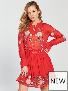 v-by-very-petite-long-sleeve-embroidered-woven-dress