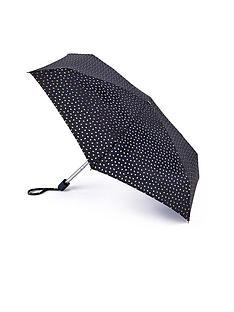 lulu-guinness-black-foil-lips-umbrella