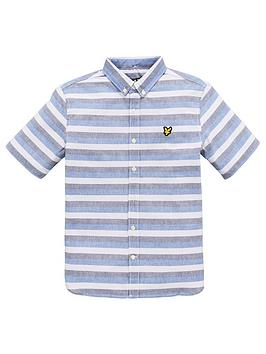 lyle-scott-boys-geometric-print-shirt