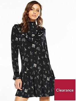 v-by-very-conversational-velvet-trim-dress