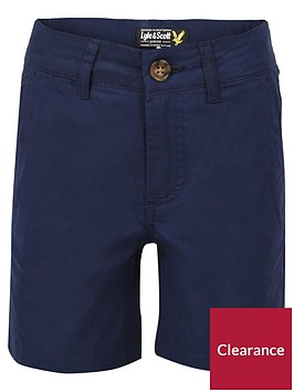 lyle-scott-boys-navy-poplin-short