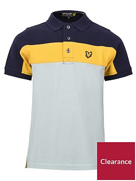 lyle-scott-boys-short-sleeve-colourblock-polo