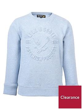 lyle-scott-boys-logo-print-marl-sweatshirt