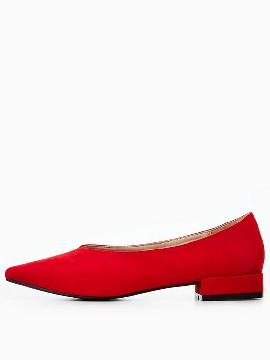Lost Ink Red High Vamp Flat Shoes outlet reliable clearance under $60 shopping online sale online U4DYbjrNO