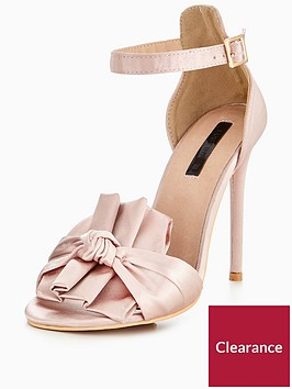 lost-ink-wide-fit-knotted-bow-heeled-sandal-blush