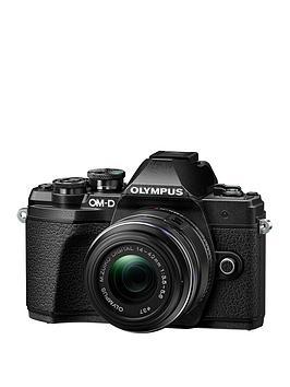 olympus-olympus-om-d-e-m10-mark-iii-black-camera-mzuiko-14-42mm-ez-pancake