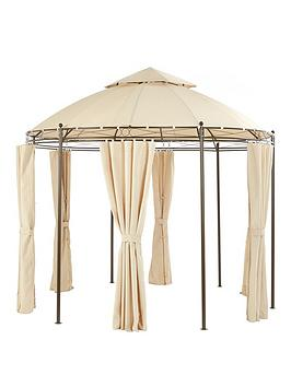 3m-round-steel-showerproofnbspgazebo-with-sides